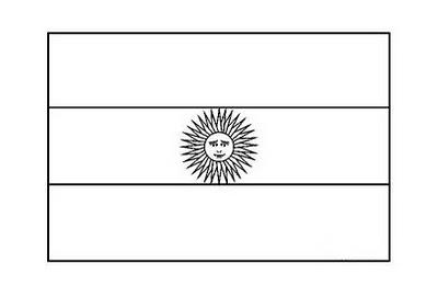 dibujo de bandera argentina