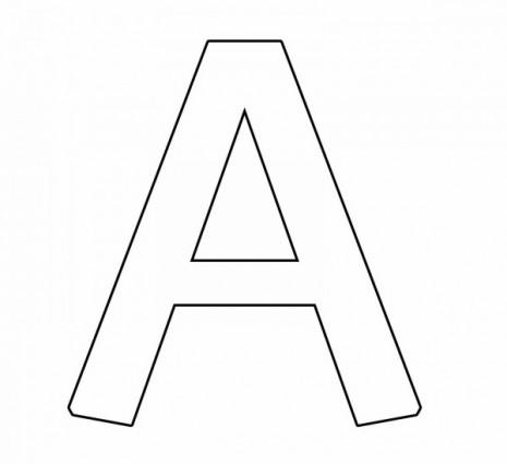letras para colorear a