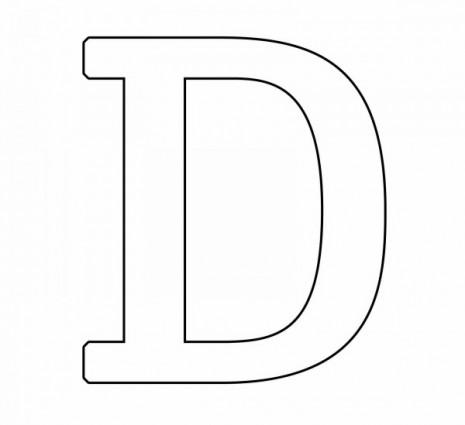 letras para colorear d