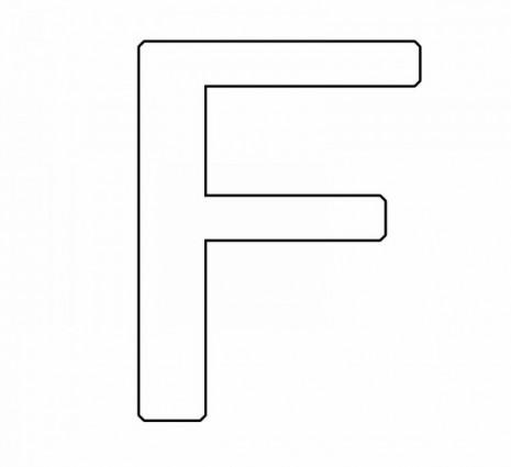 letras para colorear f