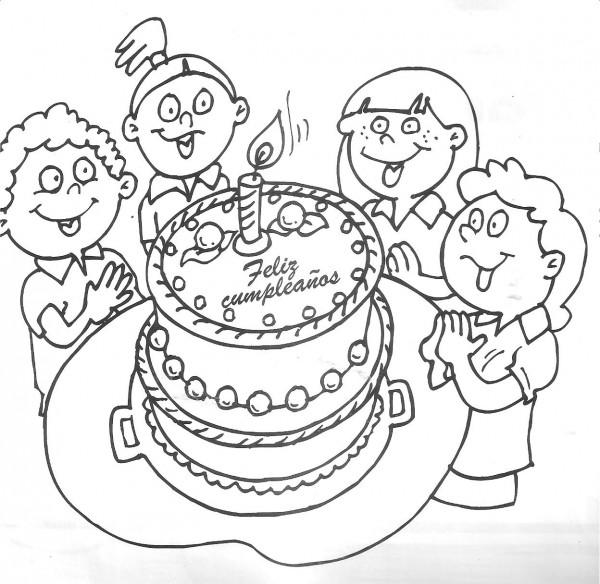 Divertidos dibujos de cumpleaños para descargar y pintar | Colorear ...