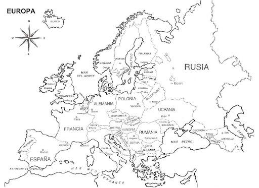 Kleurplaat Kaart Van Europa Mapas Del Mundo Para Descargar Imprimir Y Colorear