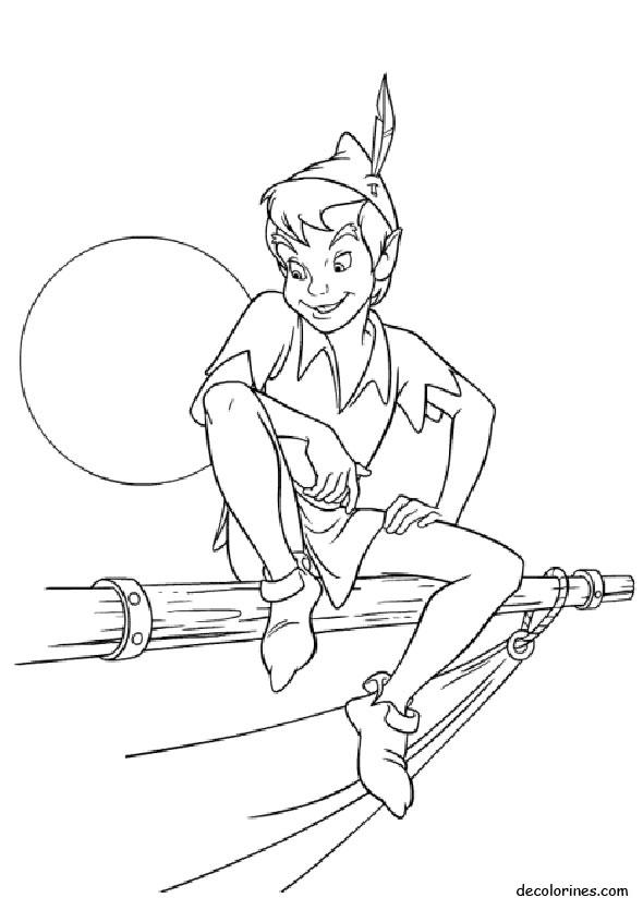 Dibujos de Peter Pan para colorear   Colorear imágenes