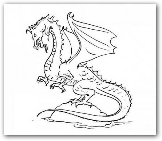 30 dibujos de dragones terroríficos para imprimir y pintar: Caras de ...