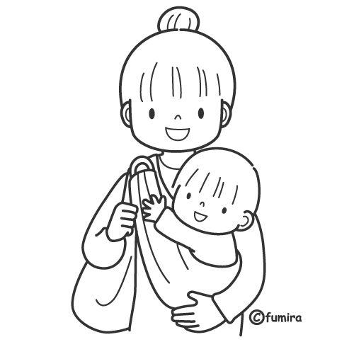Madres con hijos para colorear2
