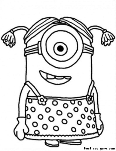 Divertidos Minions para descargar, imprimir y colorear | Colorear ...