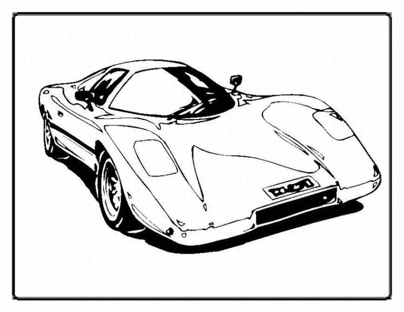 Dibujo De Autos Tuning Para Colorear En Tu Tiempo Libre Dibujos 5: Dibujos De Autos De Carrera Para Colorear
