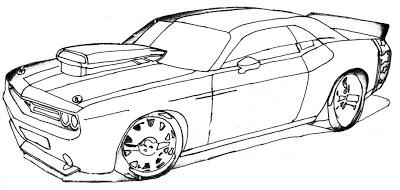 Dibujos de autos de carrera para colorear | Colorear imágenes