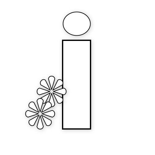 letras con flores primaverales