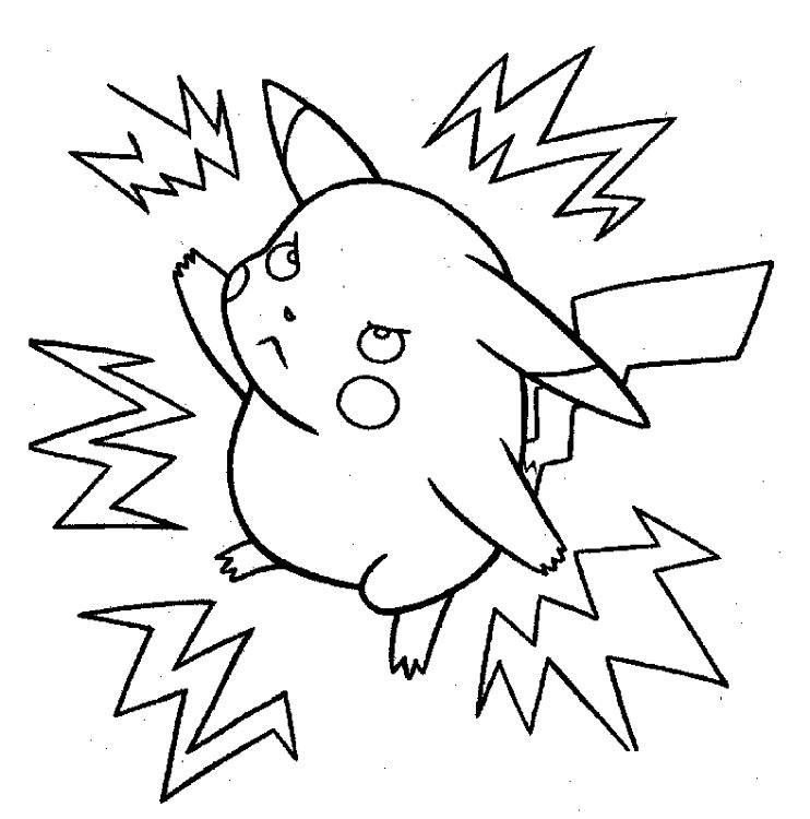 Bonito Dibujos Para Colorear De Pokemon Pikachu Cute Colección ...