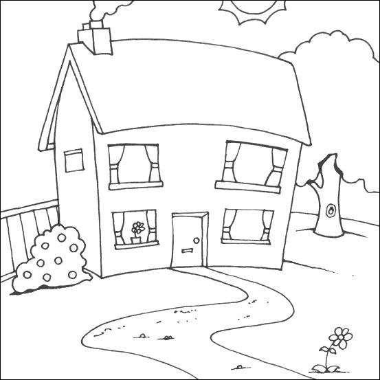 Dibujos-de-Casas-Para-Colorear