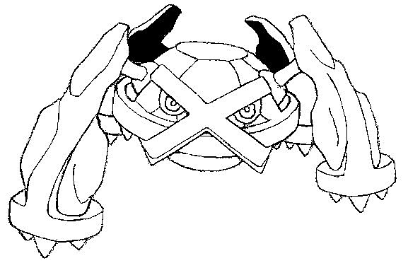 Dibujos-para-colorear-de-Pokémon-Metagross