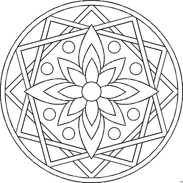 Mandalas Para Colorear HFB-0015