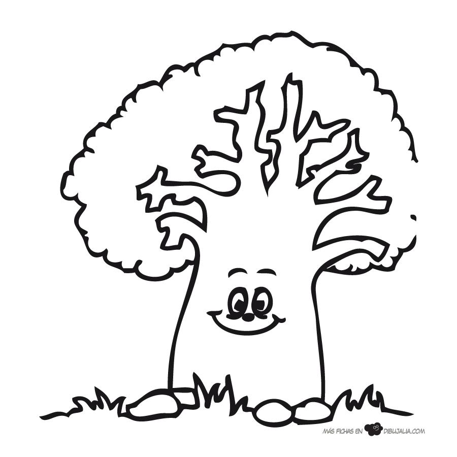 Dibujos de árboles para descargar, imprimir y colorear | Colorear