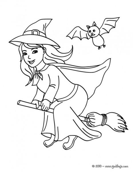 Brujas Lindas Para Pintar En Halloween Colorear Imágenes
