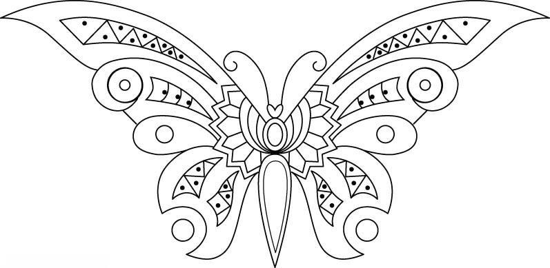 dibujos_para_colorear_de_mariposas_2