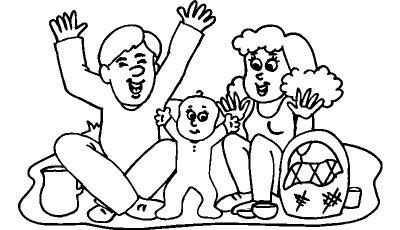 Dibujos De Familias Felices Para Pintar Colorear Imagenes