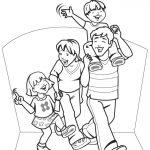 Dibujos de familias felices para pintar