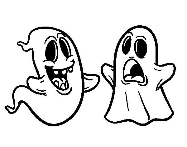 Dibujos De Halloween Para Colorear E Imprimir: Dibujos De Fantasmas De Halloween Para Pintar