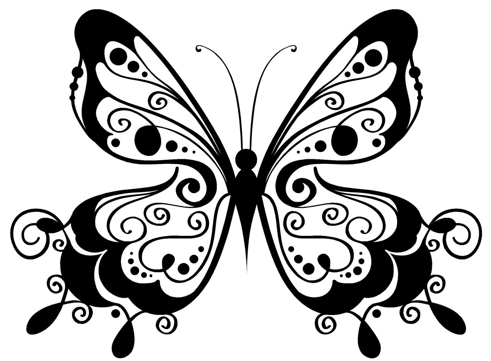 Dibujos para colorear imágenes de mariposas y flores hermosas ...