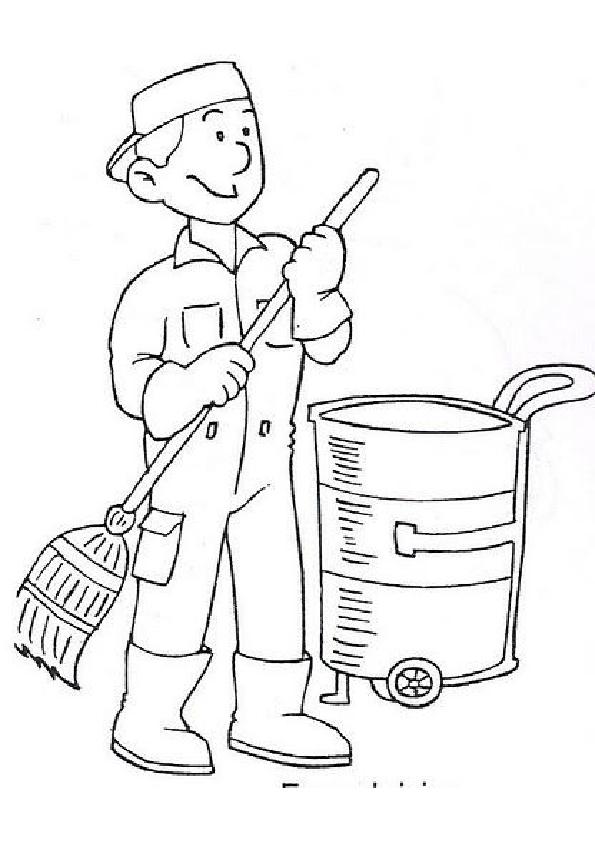 Profesiones Y Oficios Para Colorear Y Pintar El Día Del Trabajador