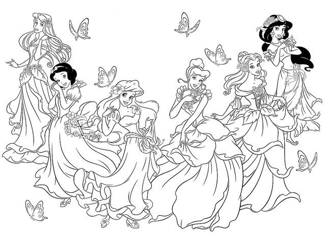 Dibujos Para Colorear De Las Princesas Disney: Dibujos De Todas Las Princesas De Disney Para Colorear Las