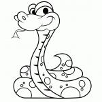 Dibujos de Serpientes para pintar