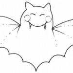 Murciélagos para pintar en Halloween