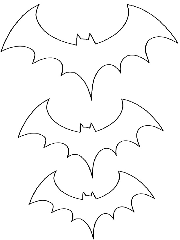 spooky bat coloring pages - photo#12