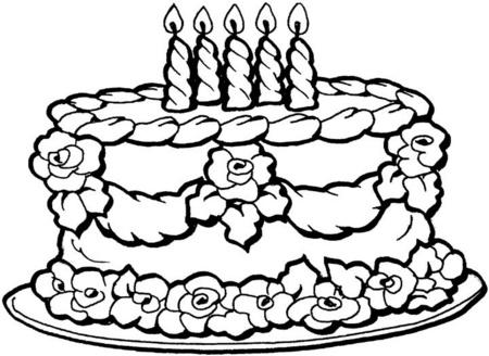 Tortas de cumpleaños para colorear | Colorear imágenes