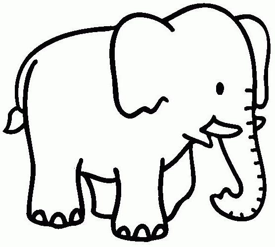Elefantes dibujos para pintar colorear im genes - Elephant en dessin ...
