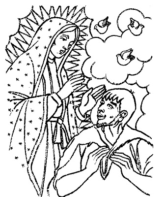 Día De Nuestra Señora De Guadalupe Para Pintar Colorear