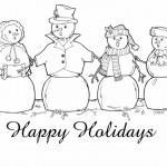Dibujos de Happy Holidays para colorear
