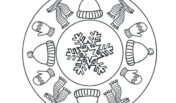 Hermosas mandalas de Invierno para pintar | Colorear imágenes