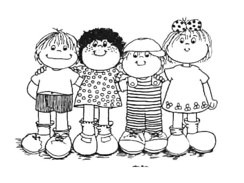 Imagenes Animadas Para Colorear: Dibujos De Niños Para Colorear