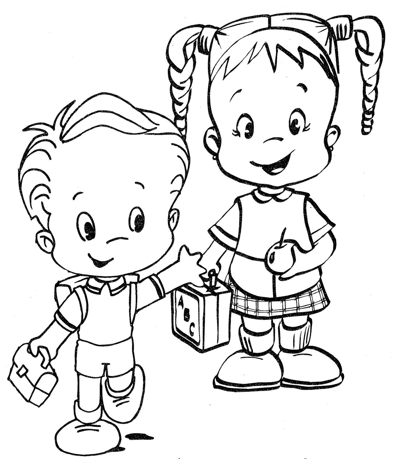 Dibujos de niños para colorear | Colorear imágenes