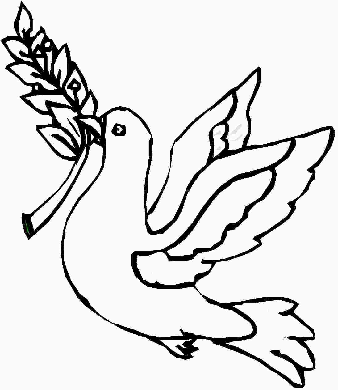 Paloma de la Paz para pintar | Colorear imágenes