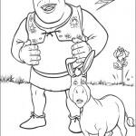 Dibujos del ogro Sherk para pintar