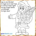 Tarjetas con mensajes de Navidad para colorear