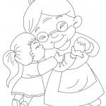 Dibujos del Día de la Abuela para colorear
