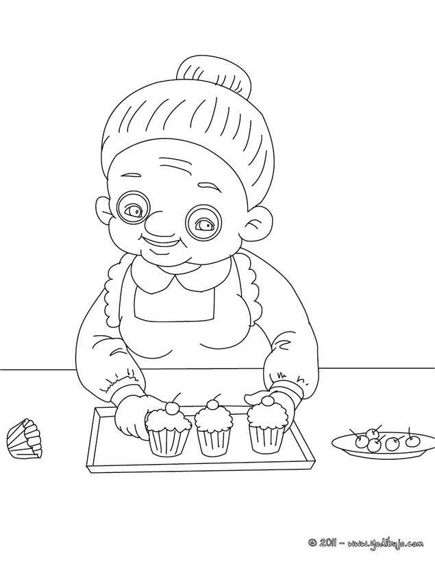 Dibujos del d a de la abuela para colorear colorear im genes - Dessin de mamie ...