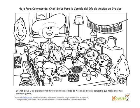 Colorear Mama Soltera Con Sus Hijos En La Cena De Navidad