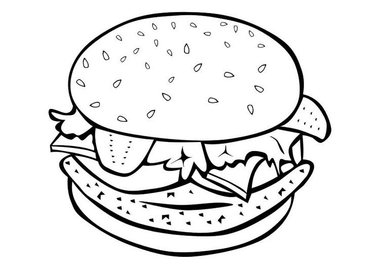 Dibujos de alimentos saludables para colorear | Colorear imágenes