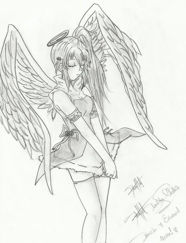 Dibujos para colorear de chicas Animé y del ángel Animé | Colorear ...