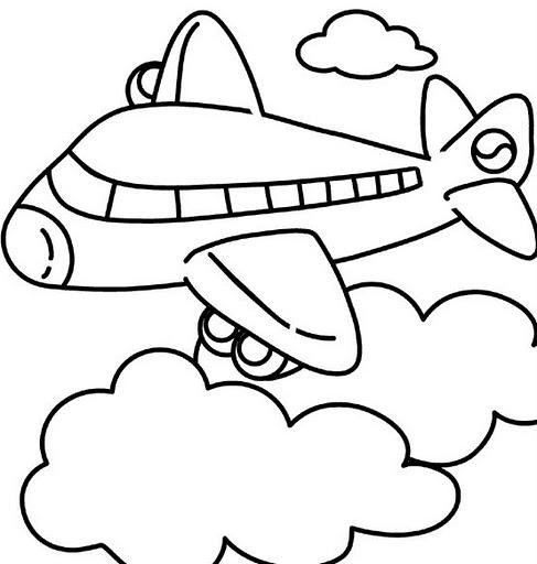 Dibujos de aviones para colorear | Colorear imágenes