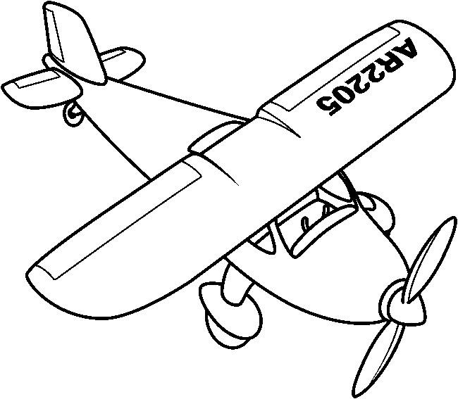 Dibujos De Aviones Para Colorear