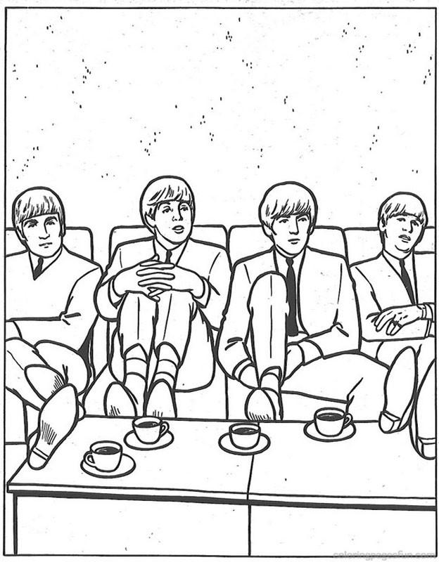 The Beatles para pintar Colorear
