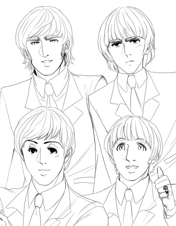 The Beatles para pintar   Colorear imágenes