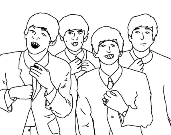 The Beatles para pintar | Colorear imágenes