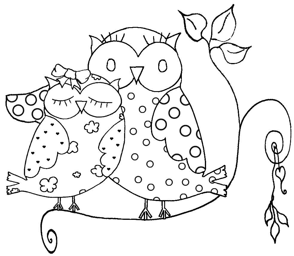 Dibujos de buhos para pintar | Colorear imágenes